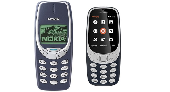 Nokia 3310 old and new